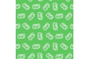 Money  Pattern Background. Vector