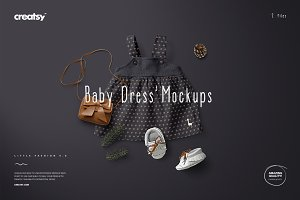 Baby Dress Mockup Set 3