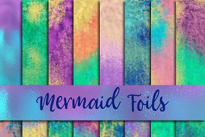 Mermaid Foils Digital Paper