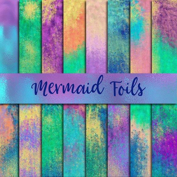 Mermaid Foils Digital Paper