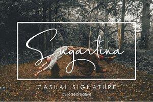 Sugartina Font Signature
