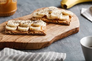 Multi grain breads with banana