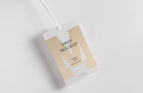 Clothes Label Tag Blank White Mockup