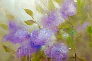 Lilac flowers background. Spring flowers