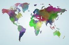 Vector watercolor map