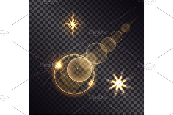 Distant Burning Star On Transparent Background