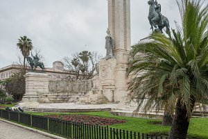 Monument to the Constitution in Cadiz, Southern Spain