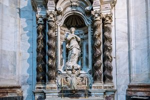 Side chapel in Cathedral of Cadiz, Southern Spain
