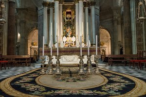 Altar in Cathedral of Cadiz, Southern Spain