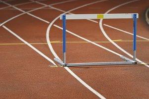 Rows of hurdles