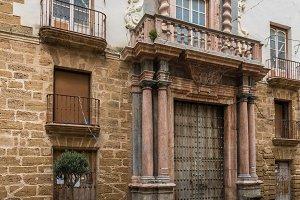 Wooden doors in Cadiz, Southern Spain