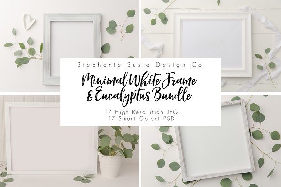 White Frame Eucalyptus Mock Up