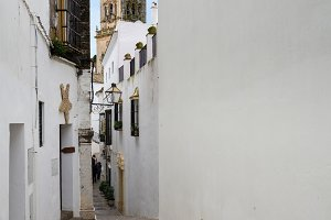 Street in Arcos de la Frontera near Cadiz Spain