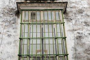 Window in Arcos de la Frontera near Cadiz Spain