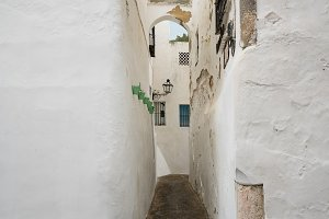 Narrow passage in Arcos de la Frontera near Cadiz Spain