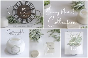 Creamy Neutral Collection Mockups