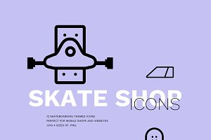 Skate Shop Icon Pack