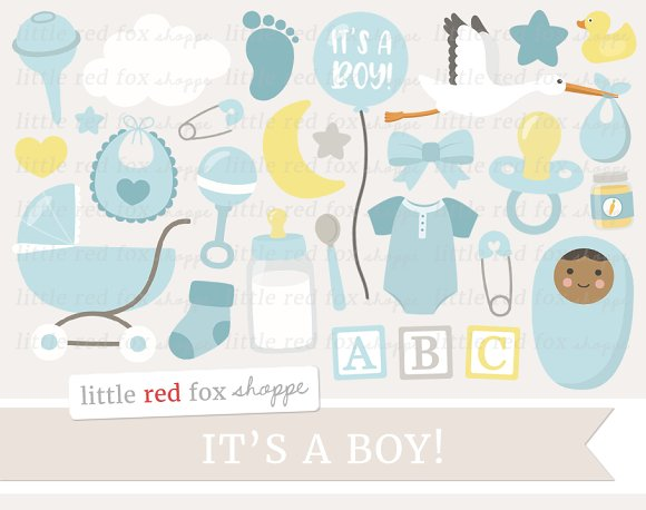 New Baby Boy Clipart