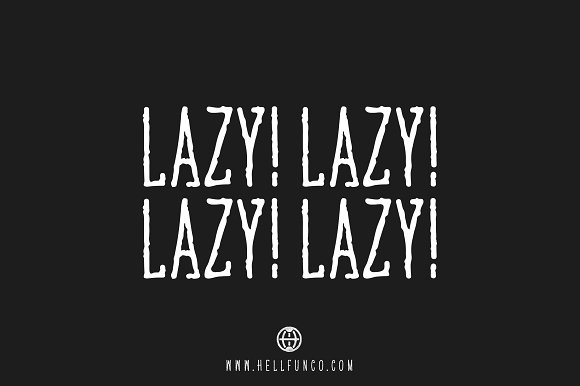 Lazy Hand Drawn Font