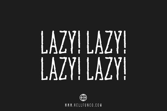 Lazy Hand Drawn Font