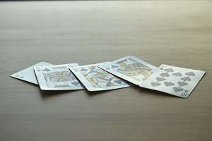royal flush playing cards