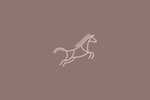 Jumping Horse Logo Template