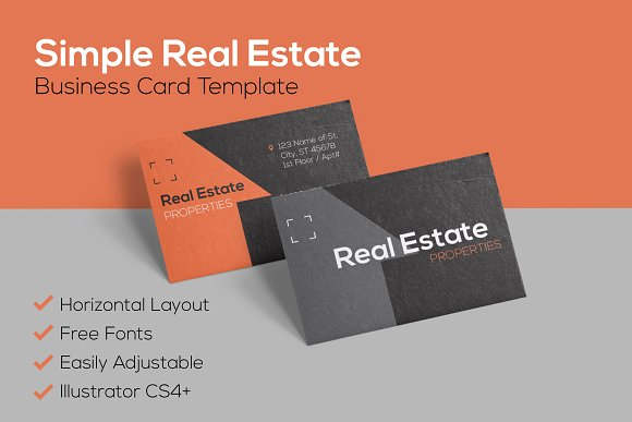 Simple Real Estate Business Card