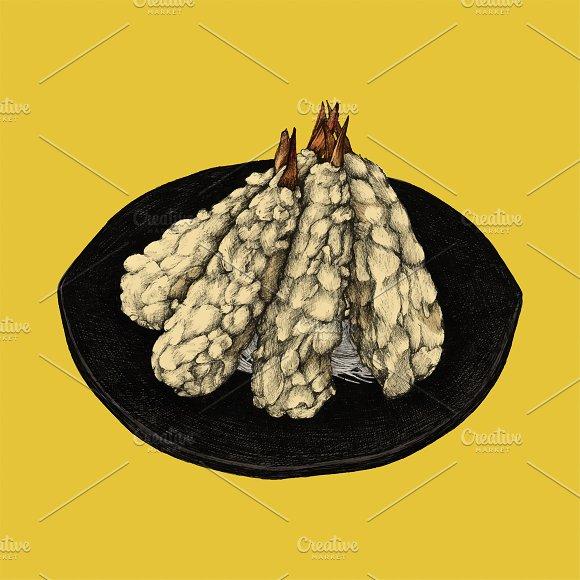 Illustration of Japanese Legume Dish