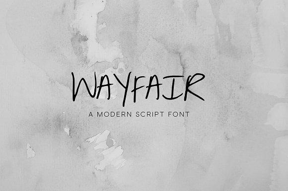 Wayfair A Modern Script Font