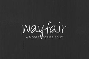 Wayfair - Modern Script Font - SALE