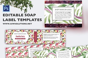 Soap label template id48