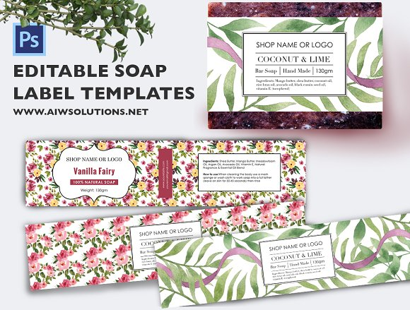 soap label template id48 stationery templates creative market