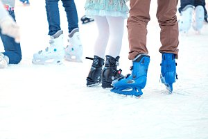 Ice skating boots