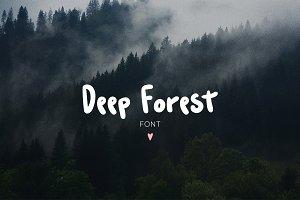Deep Forest Font
