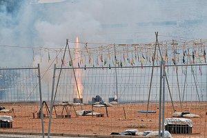 Firecrackers blasting