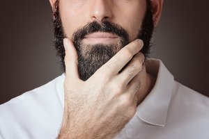 Cropped image of man with beard