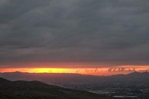 Ontinyent City at Sunrise