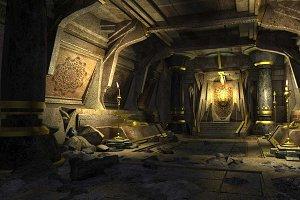 Golden dungeon 3dsmax Environment