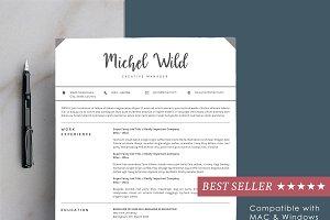 Resume Template + Portofolio Page