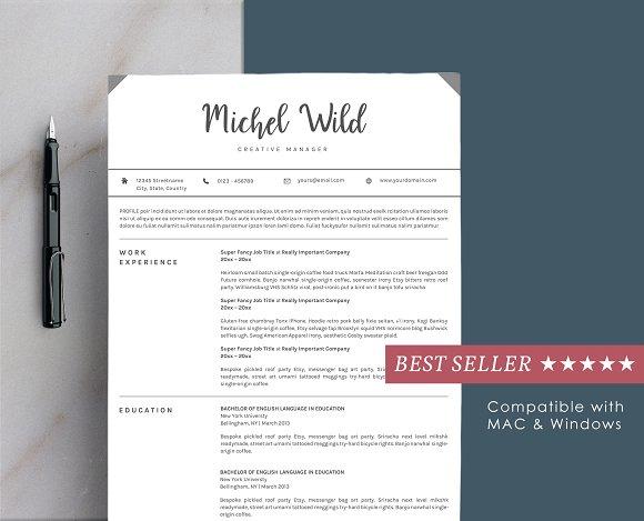 Resume Template Portofolio Page