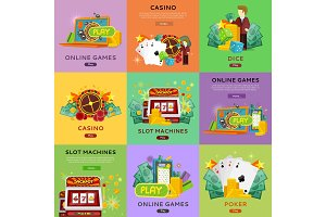 Casino Gambling Website Templates Set