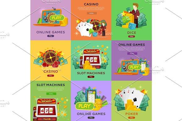 Casino Gambling Website Templates Set