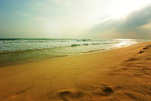 Landscape of beach and sea
