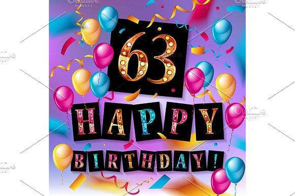 63rd Anniversary Celebration Design