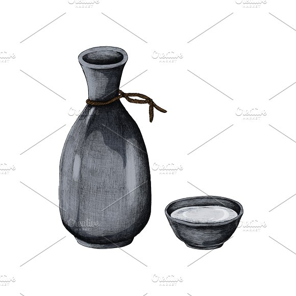 Japanese Alcohol Drink Vase