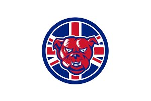 British Bulldog Union Jack Flag Icon