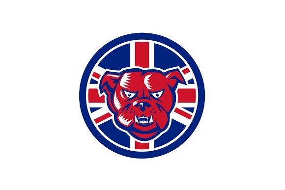 British Bulldog Union Jack Flag Icon