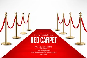 Red Carpet Realistic Set