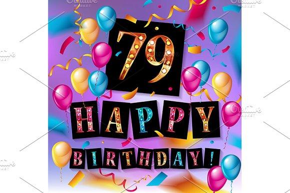 Happy Birthday 79 Years Anniversary