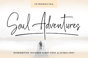 Soul Adventures textured font+Extras
